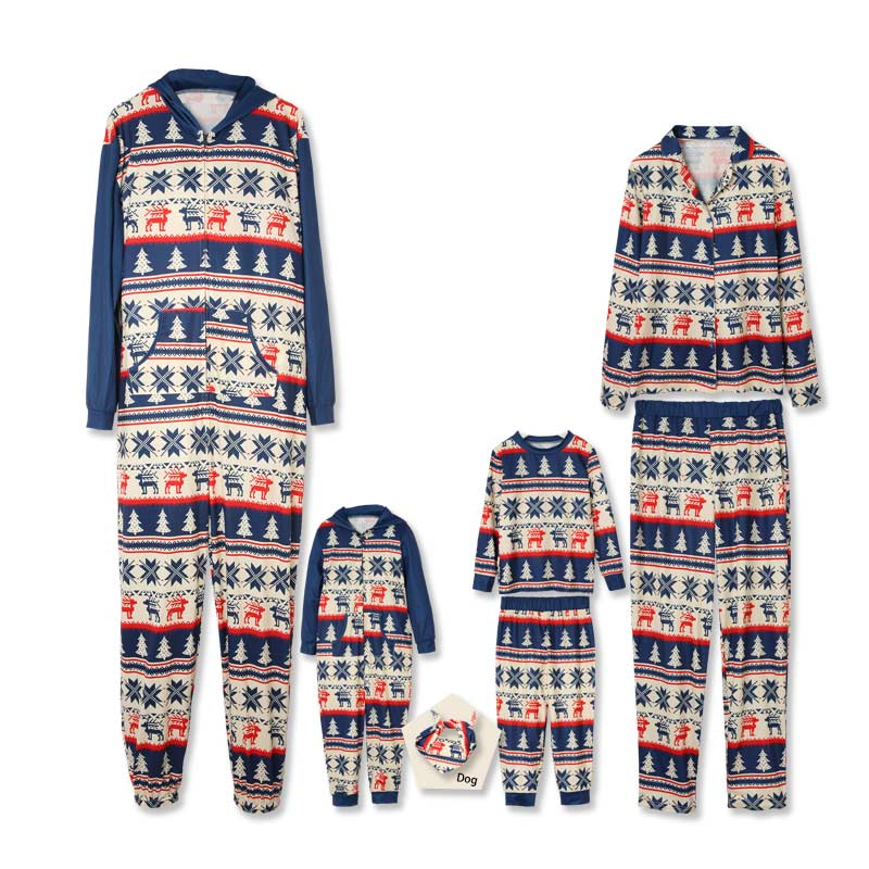 Festive Deer Pattern Comfy Family Pajamas