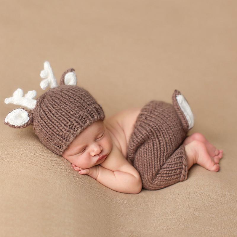 Купить со скидкой Super Cute Knitted Deer Set