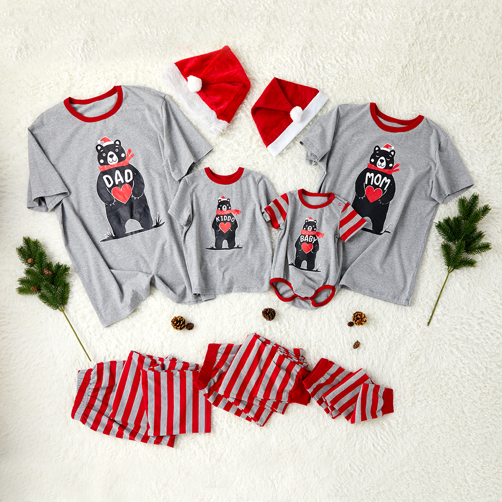 Купить со скидкой Bear with Heart Family Matching Pajamas
