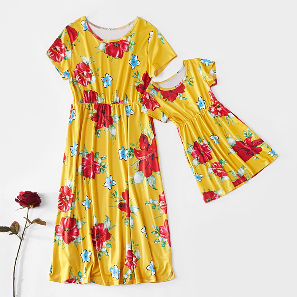 Floral Printed Matching Dress