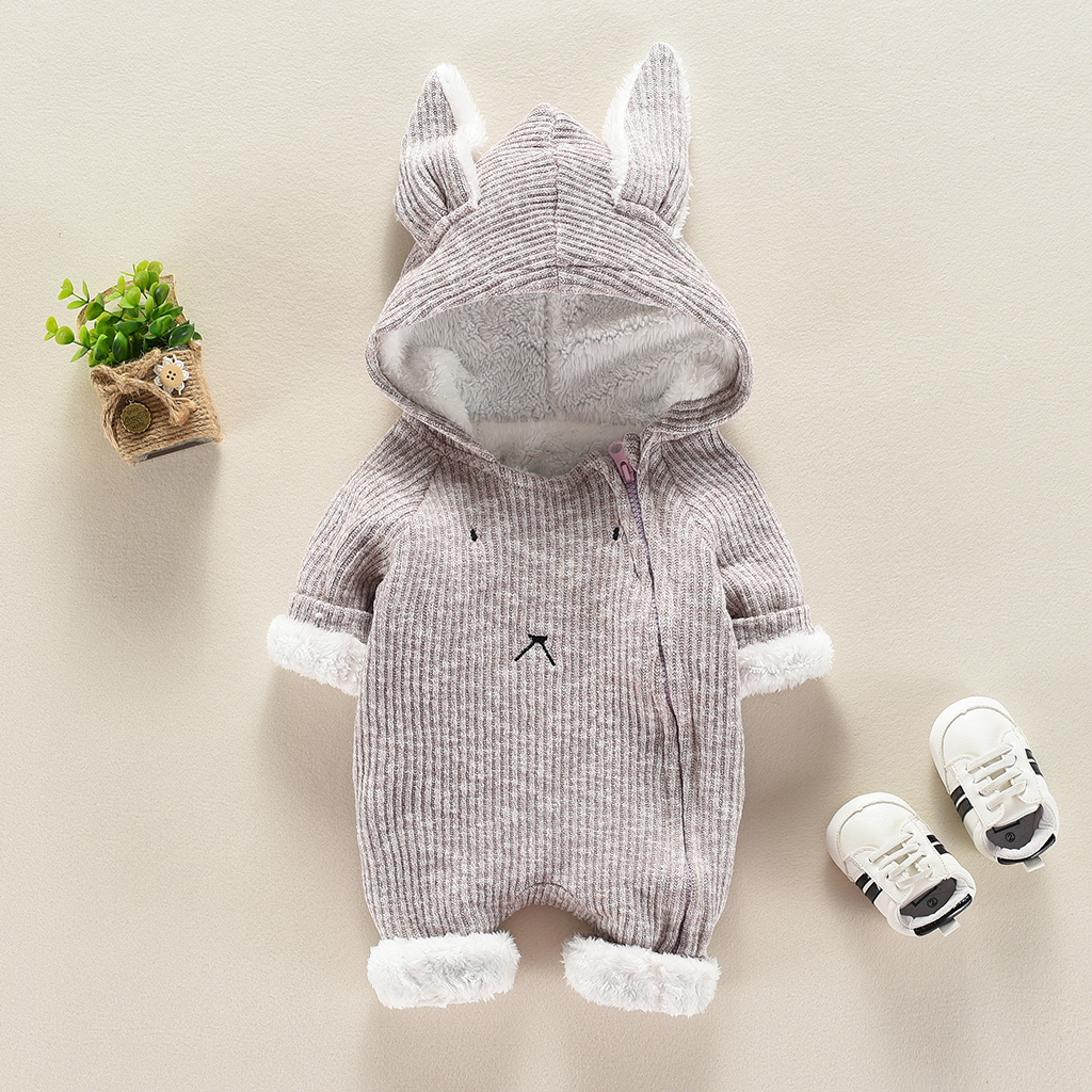 Купить со скидкой Stylish Rabbit Modelling Hooded Jumpsuit for Babies