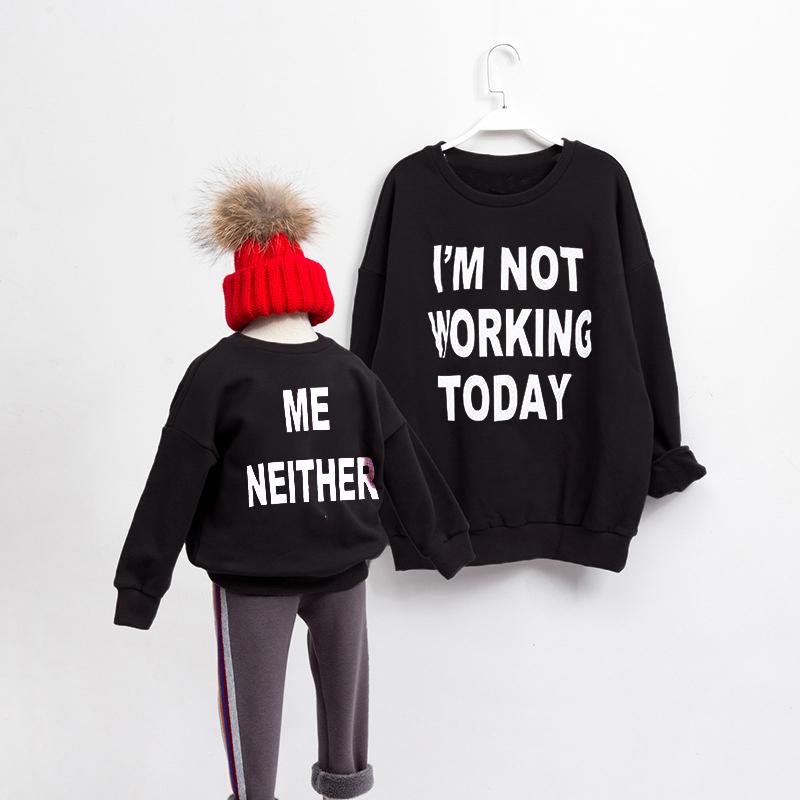 Nem eu manga Longa Coordenação Família T-shirt