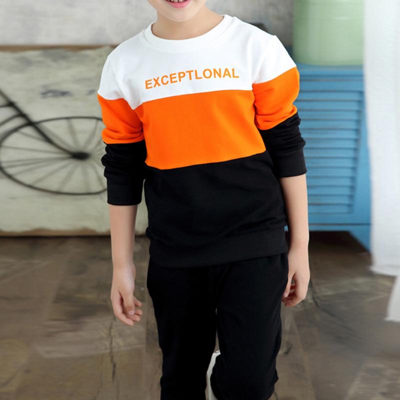 Garçons branchés, Lettre Imprimée Sweat-shirt et Pantalon de Jeu pour les enfants