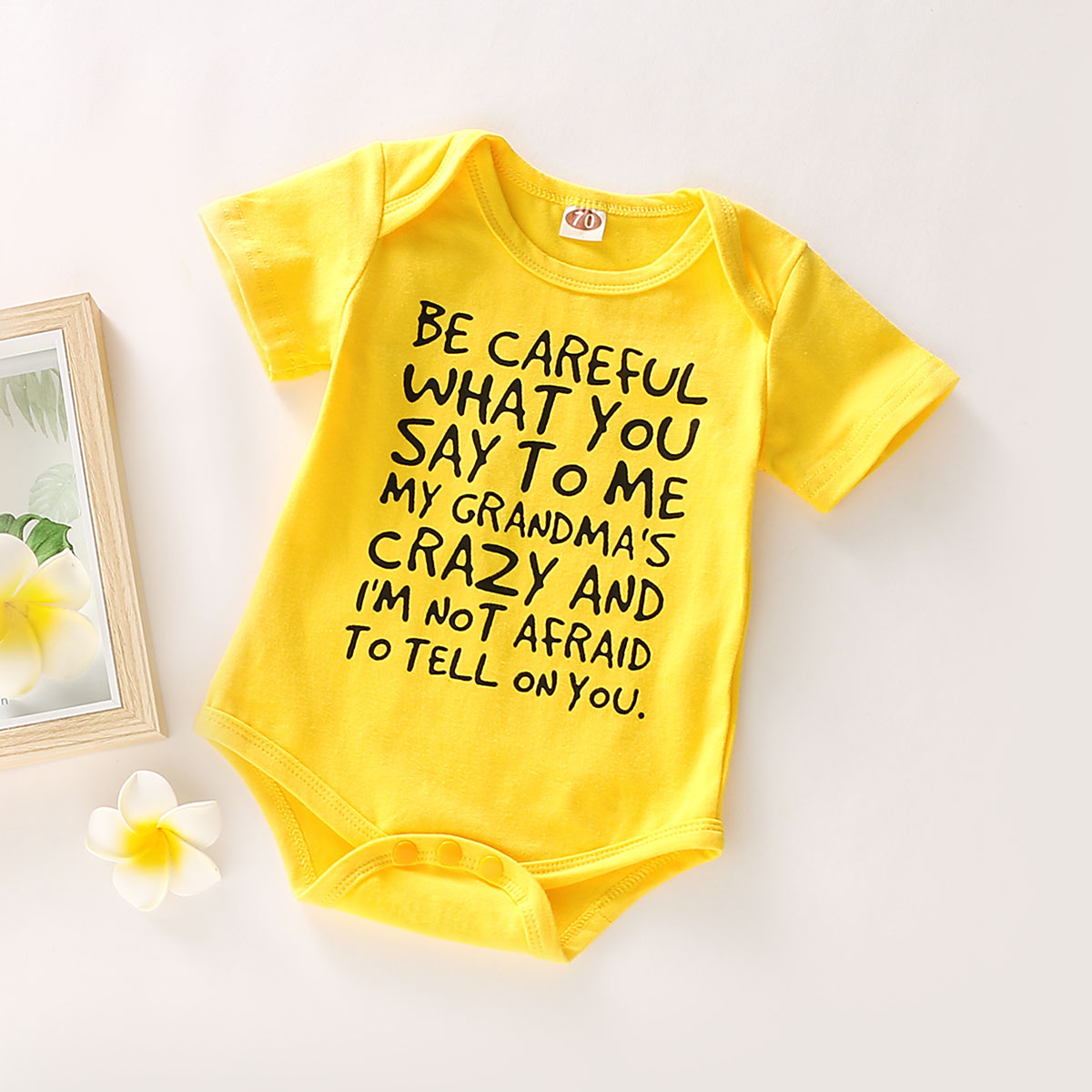 Baby Comfy Daily Letter Romper