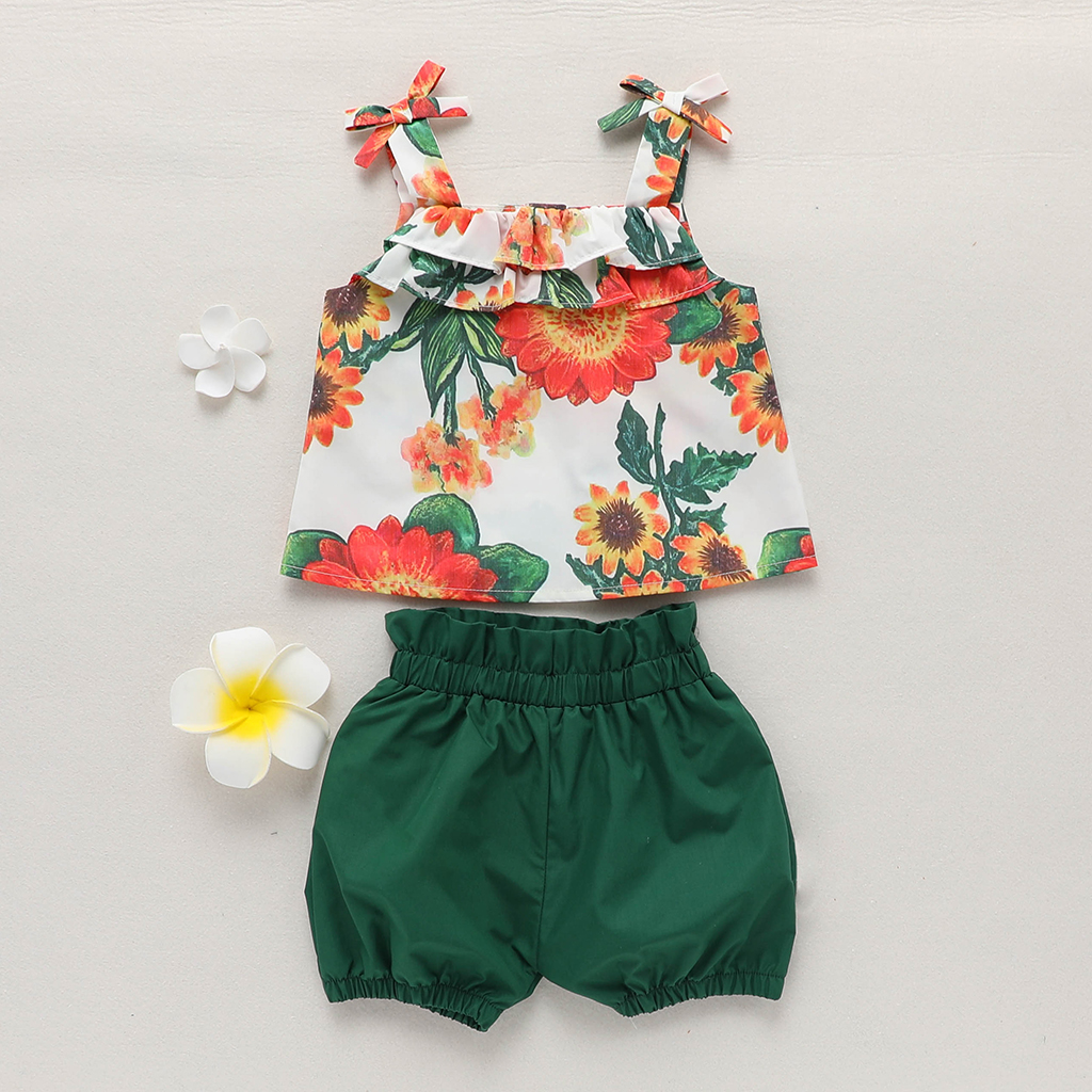 Baby / Toddler Floral Print Strappy Top and Shorts Set