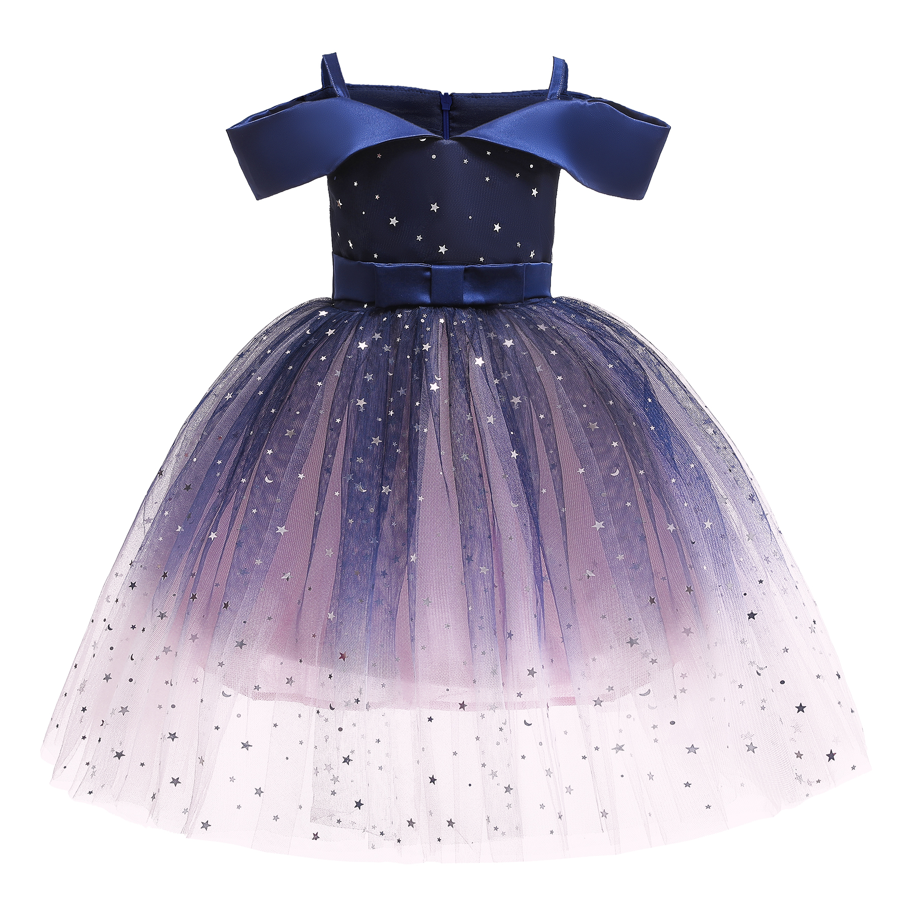 PatPat / Elegant Starry Gradient Color Mesh Party Dress