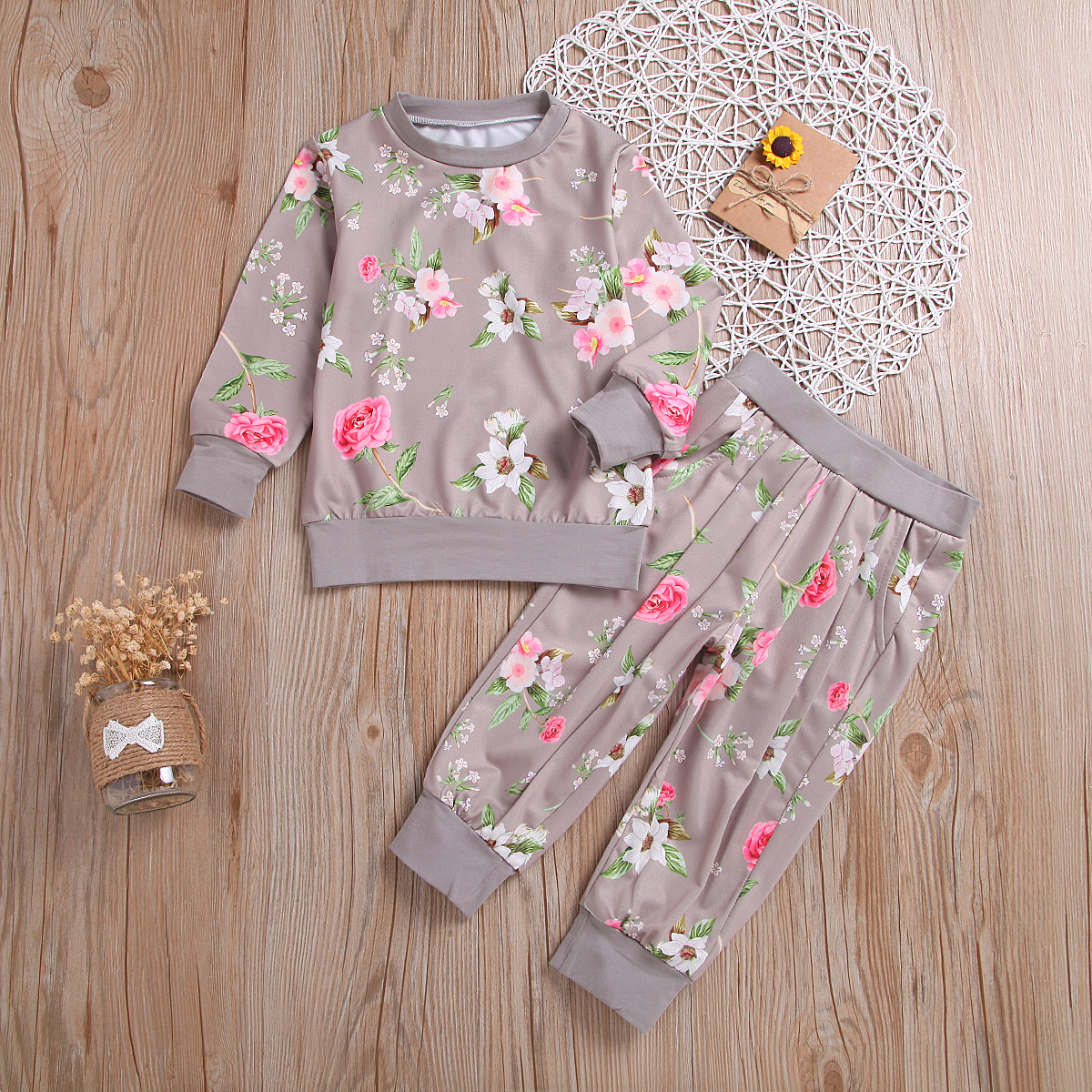 Baby / Toddler Floral Allover Top and pants Set