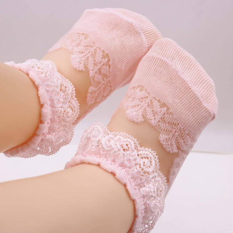 Baby Girl's Lace See-through Sock