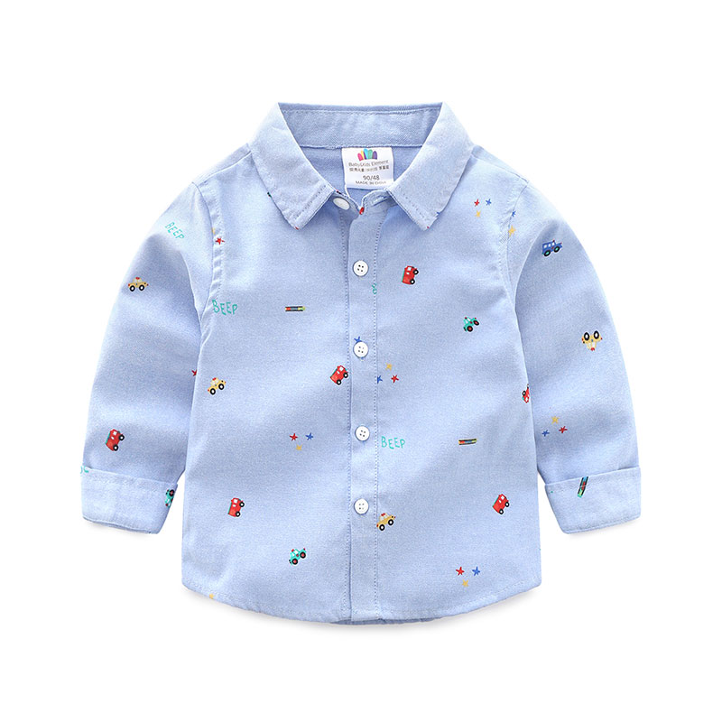 Купить со скидкой Handsome Car Print Long-sleeve Shirt for Toddler Boy and Boy