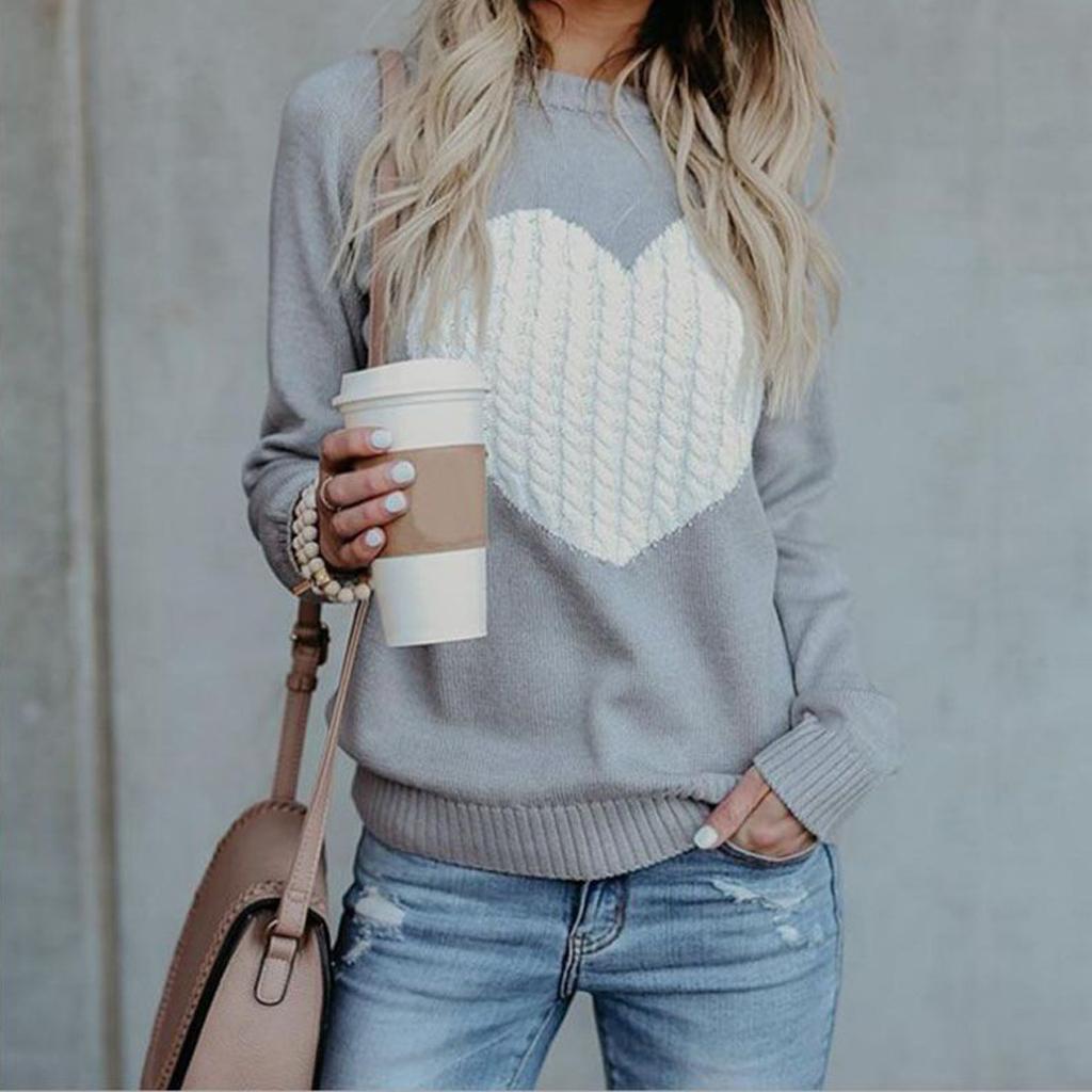 Charmante Herz Design Pullover