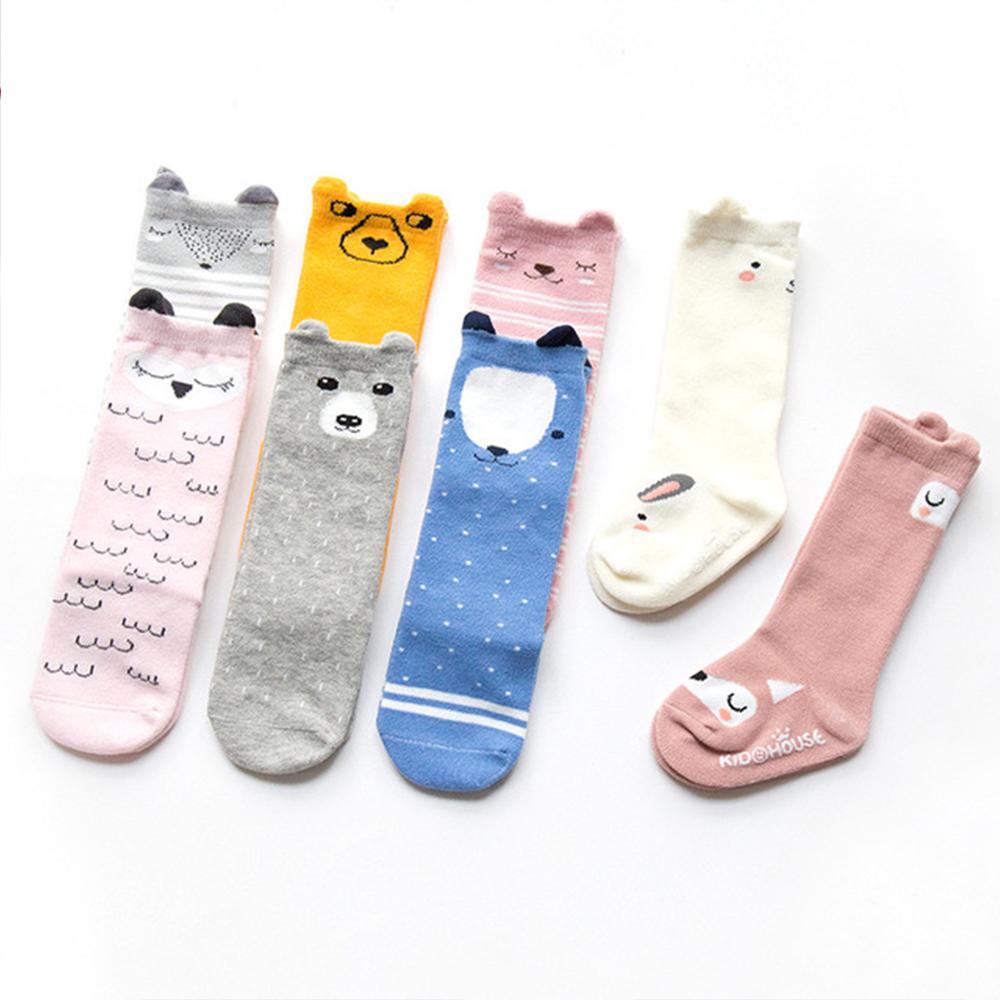 Baby / Toddler Soft Cartoon Animal  Print Striped Letter Socks