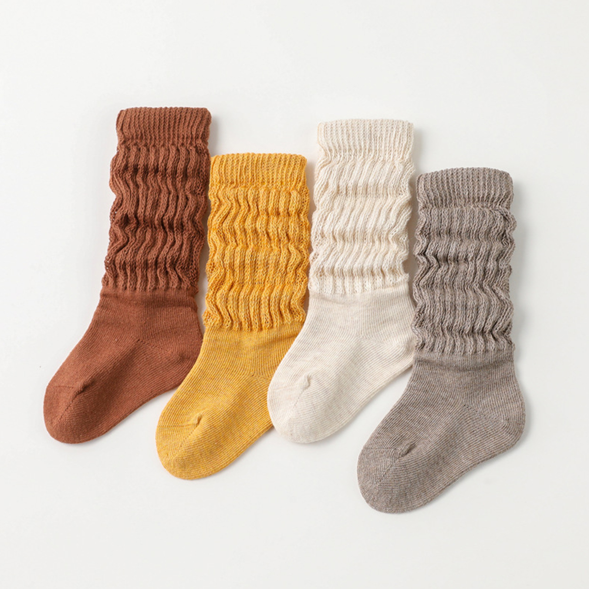 4-pack Baby / Toddler Casual Solid Antiskid Stocking Set
