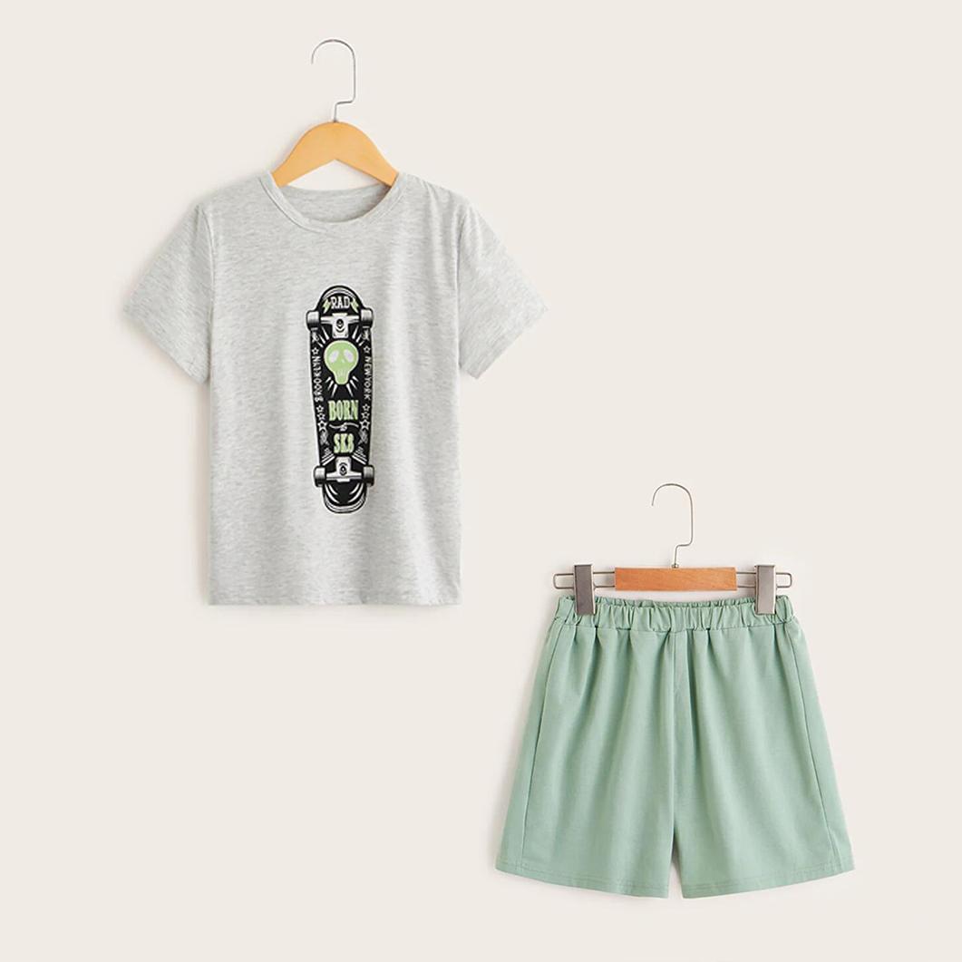 La mode de planche à roulettes d'Impression de t-shirt et Short
