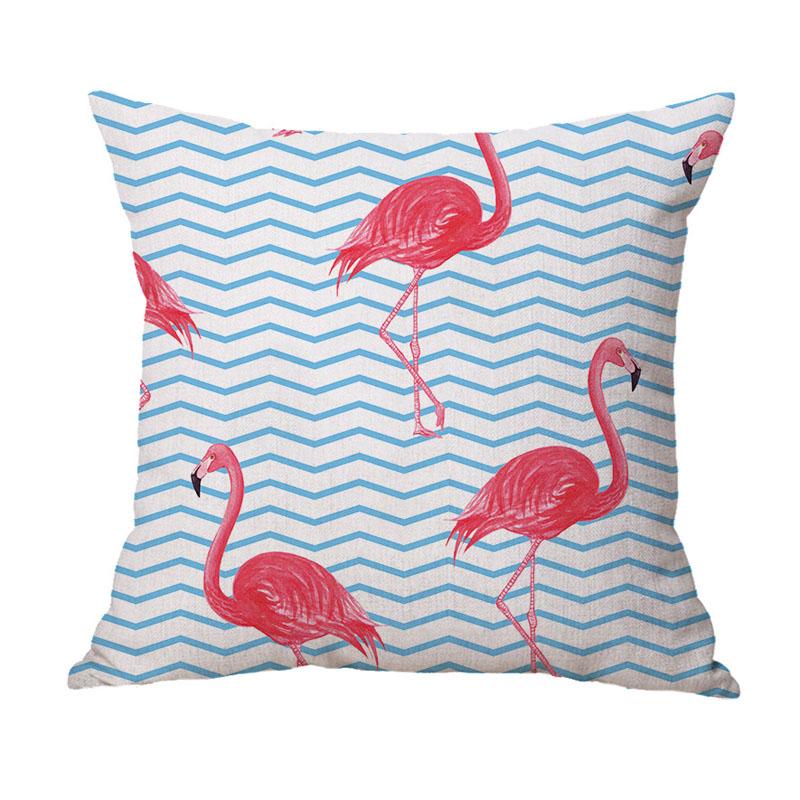 Concise Flamingo Print Pillowcase
