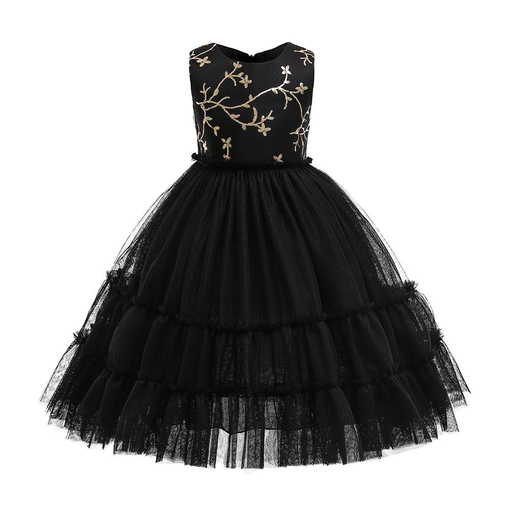 PatPat / Elegant Embroidered Mesh Sleeveless Party Dress