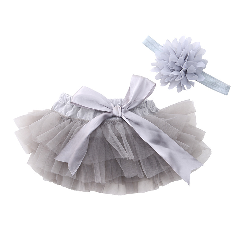 Купить со скидкой Lovely Solid Tutu Skirt and Headband for Baby Girl