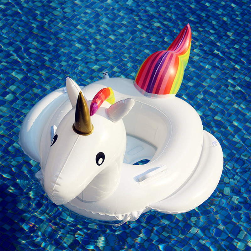 Купить со скидкой 1 Pc Unicorn Design Swim Ring for Baby and Kid
