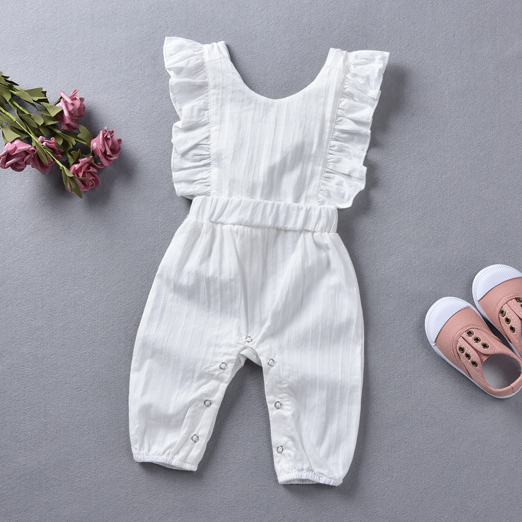 Baby Ruffled Solid Jumpsuit