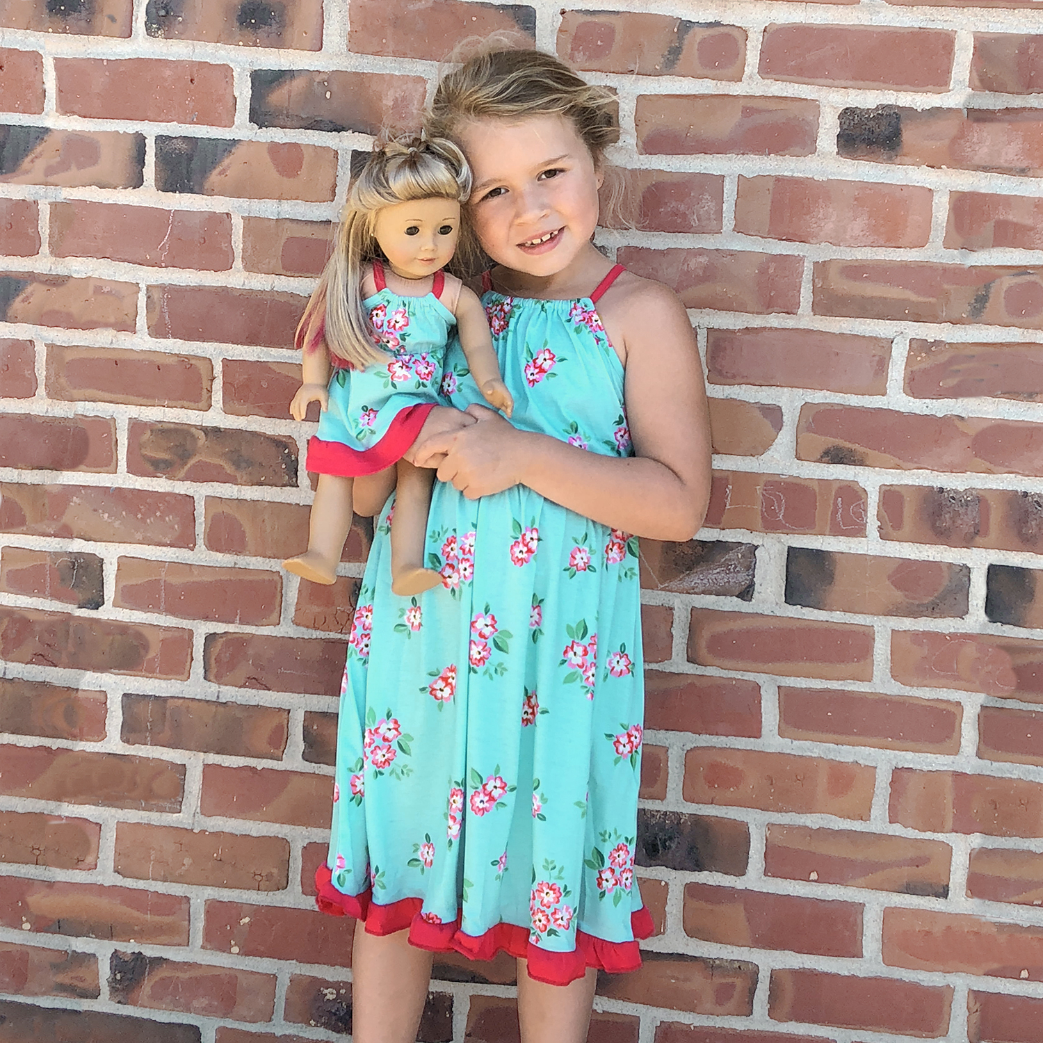 Mosaic Flower Print Twirl Tank Dresses fom Mommy and Me and Doll