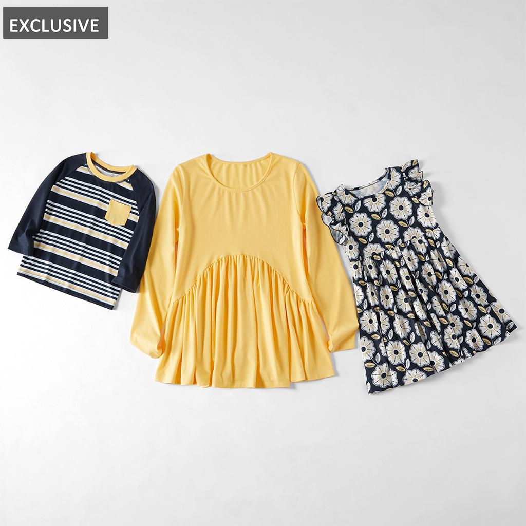 Mosaik-Familie-Matching-für Mama und Mich-Streifen-Geometrische Tunika Spitze Kleider für die Mutter - Junge - Mädchen