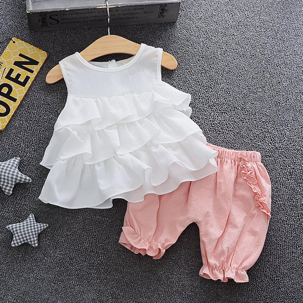 Baby Mädchen Ruffle Tank und Unterhose Set