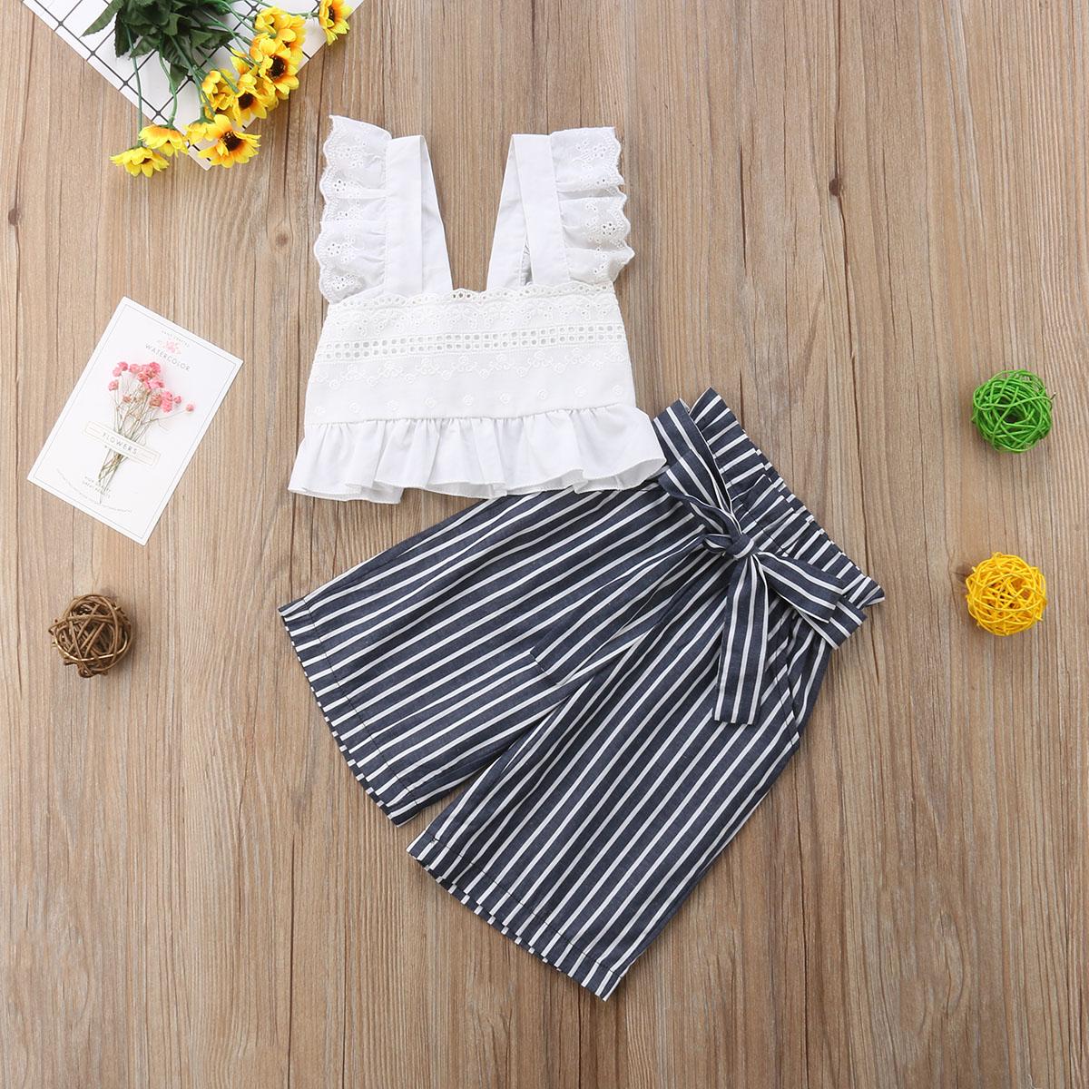 佛山服尔佳服饰有限公司 / Topo colheita plissado e listradas calças duas peças conjunto