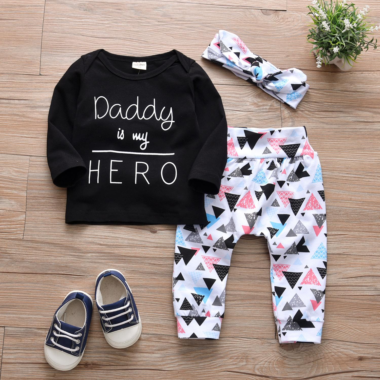 Bambino Lettera Geometriche Pantaloni e Archetto