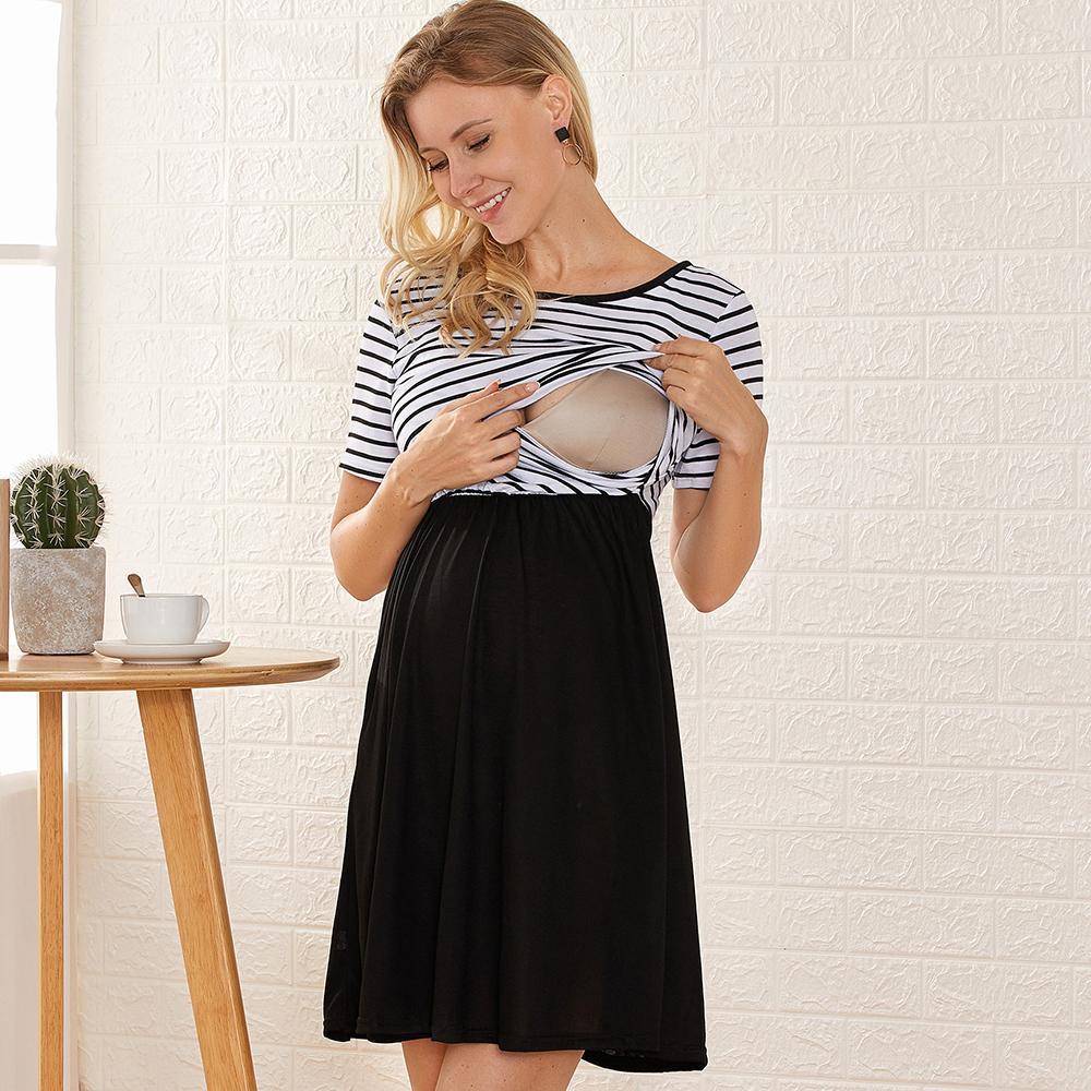 Beautiful Short-sleeve Nursing Dress