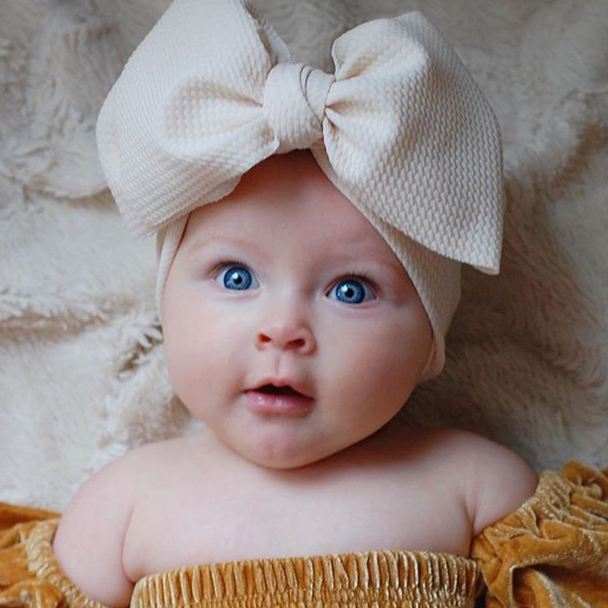Baby / Toddler Girl Big Bow Decor Solid Wide Headband