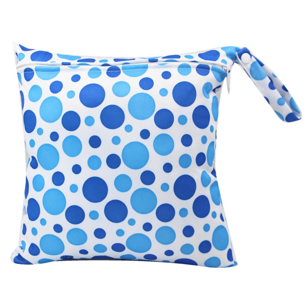 Blaue Punkte Wasserdichten Hängenden Tuch Windel Wet/Dry-Taschen