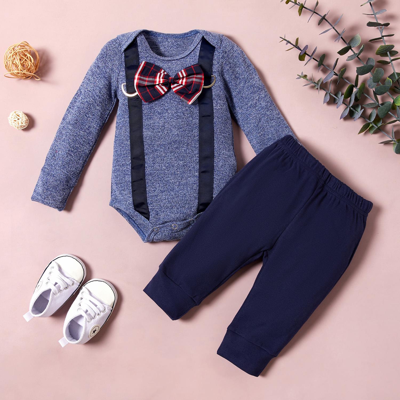 Baby Gentleman Bow Tie Bodysuit and Pants Set