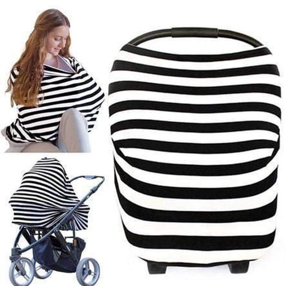 Gestreifte Baumwolle Mutterschaft Krankenpflege Decken, Kinderwagen Sonnenschirm