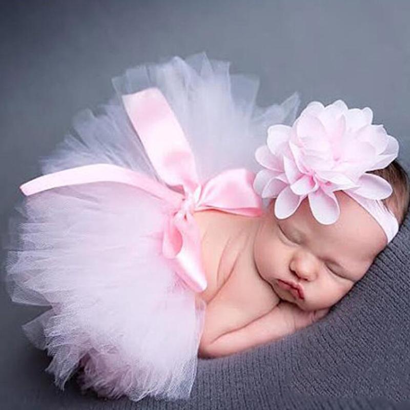 Baby / Kleinkind Fotografische Kostüm Floral Stirnband und Tüll Tutu Kleid