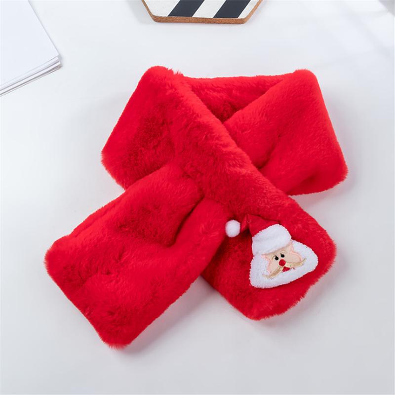 Baby - / Kleinkind-Solid-Weihnachten-Santa-Muster Schal