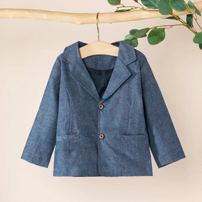 Baby / Toddler Boy Gentleman Casual Solid Coat