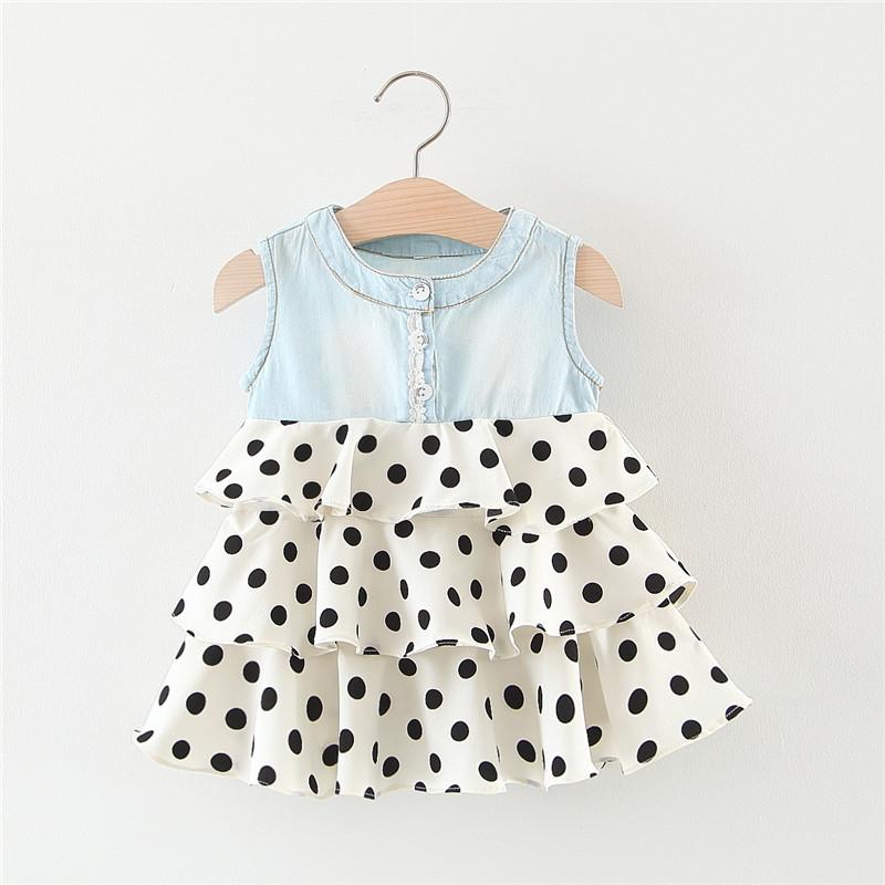 深圳市偌思科技有限公司 / Polka dot impressão vestido bolo sem mangas