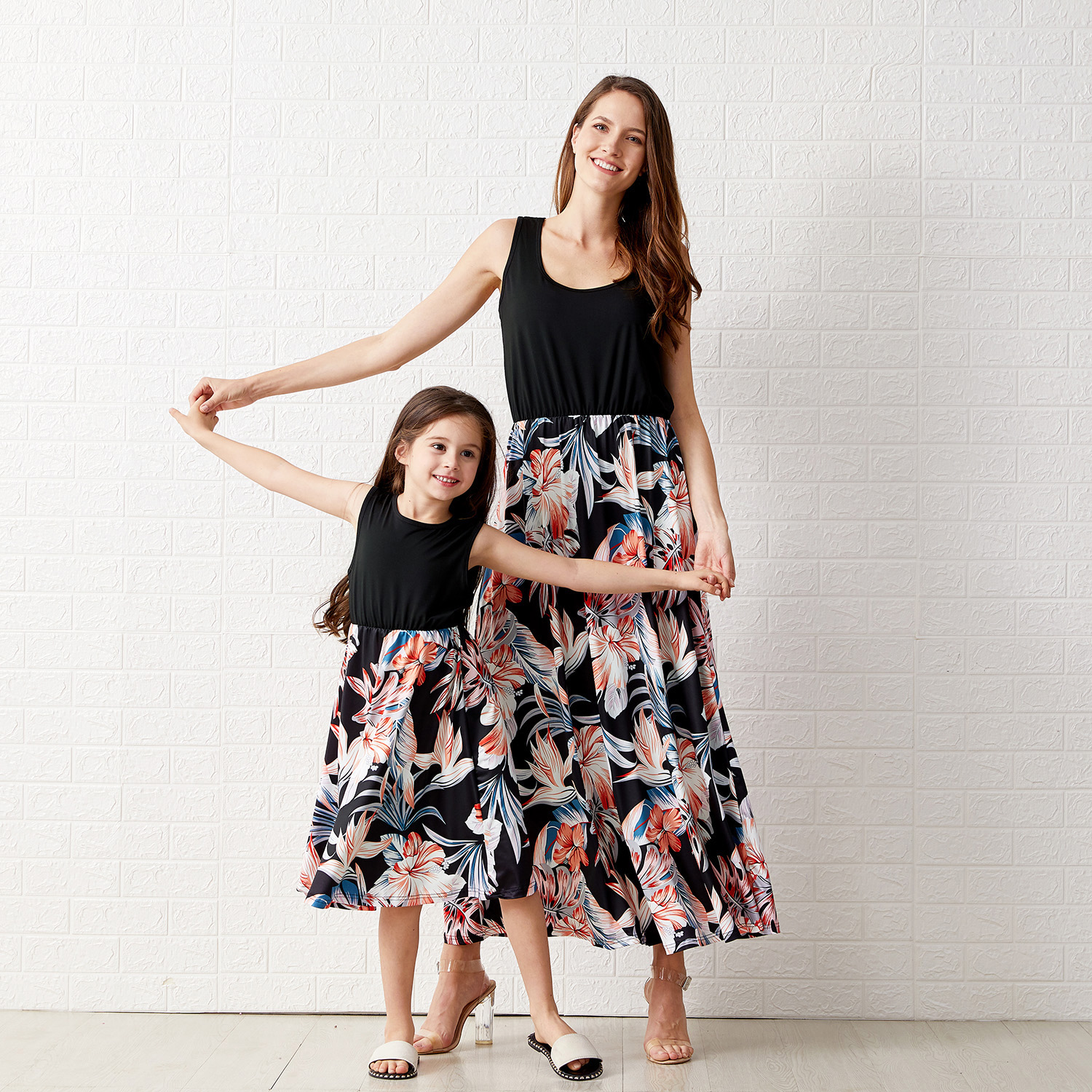 Splice Sleeveless Matching Dresses for Mommy and Me