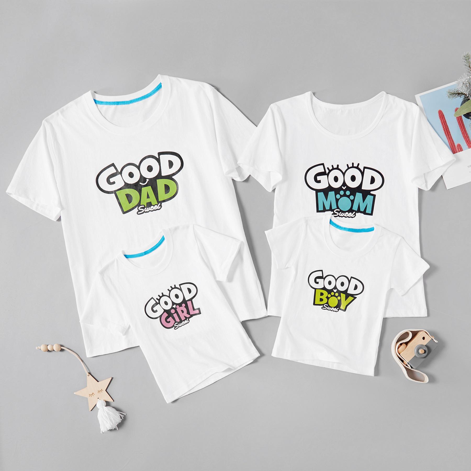 Dos desenhos animados de Boa Famliy de Impressão de T-shirts para a Família
