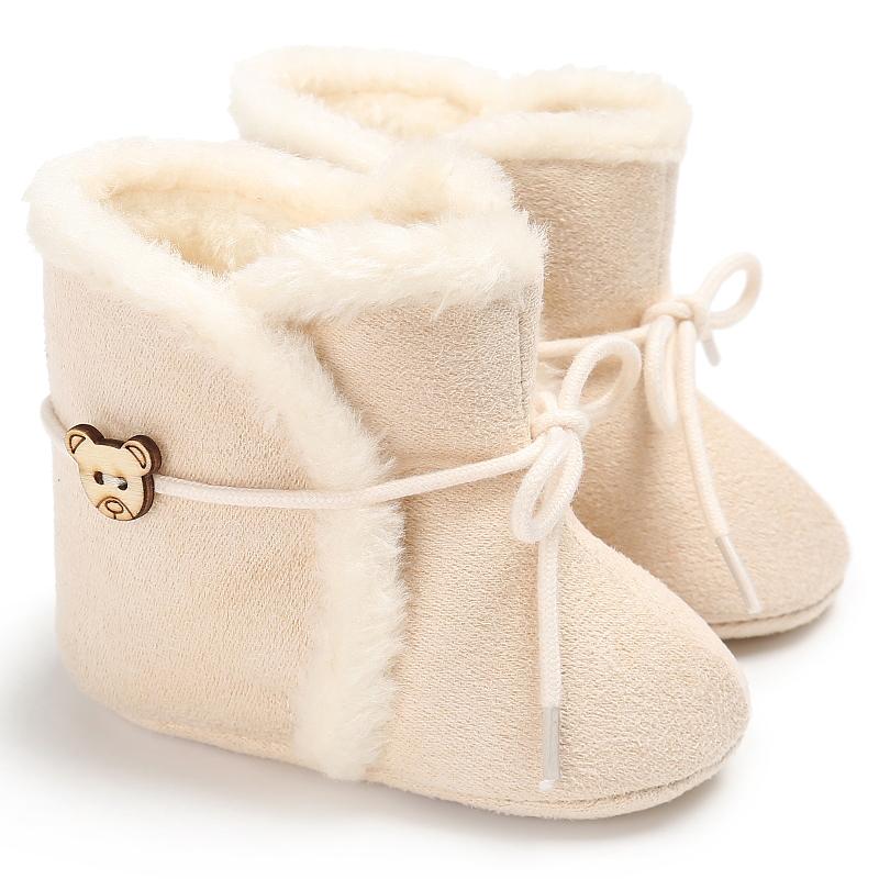 Baby - / Kleinkind-Mädchen-Lovely Solid-Lace-up-Prewalker Schnee Stiefel