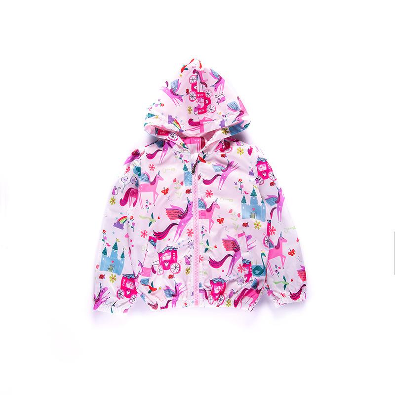Fancy Gedruckt Reißverschluss Vorne Jacke Für Mädchen