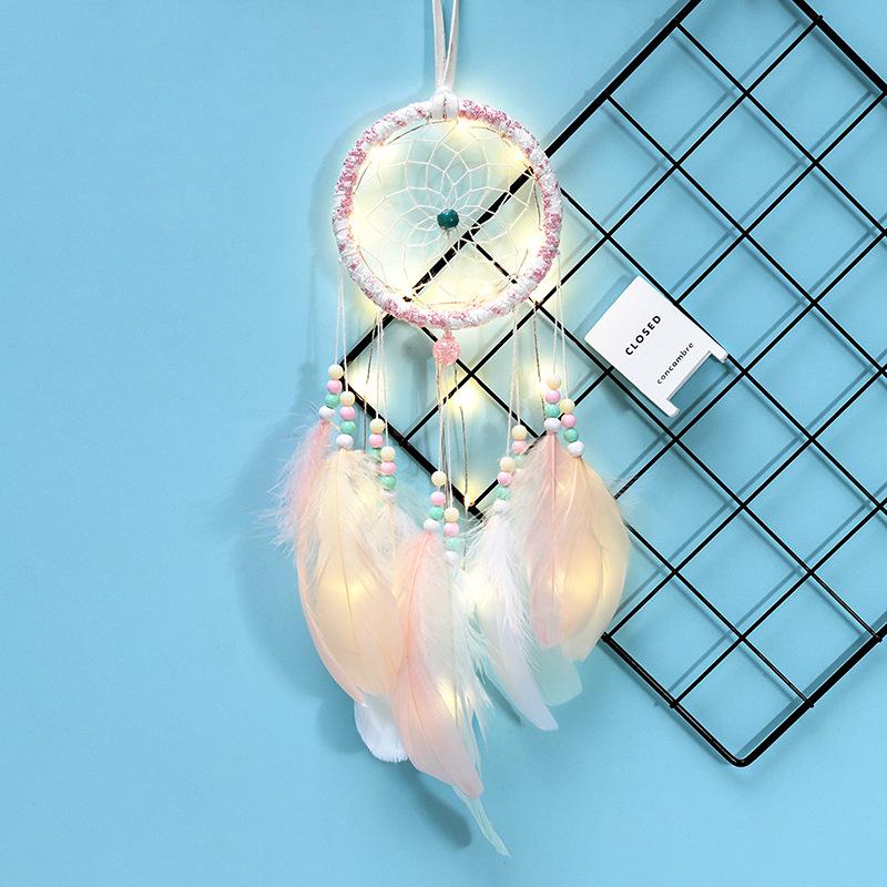 Coloré De Perles Plumes Gland Dreamcatcher