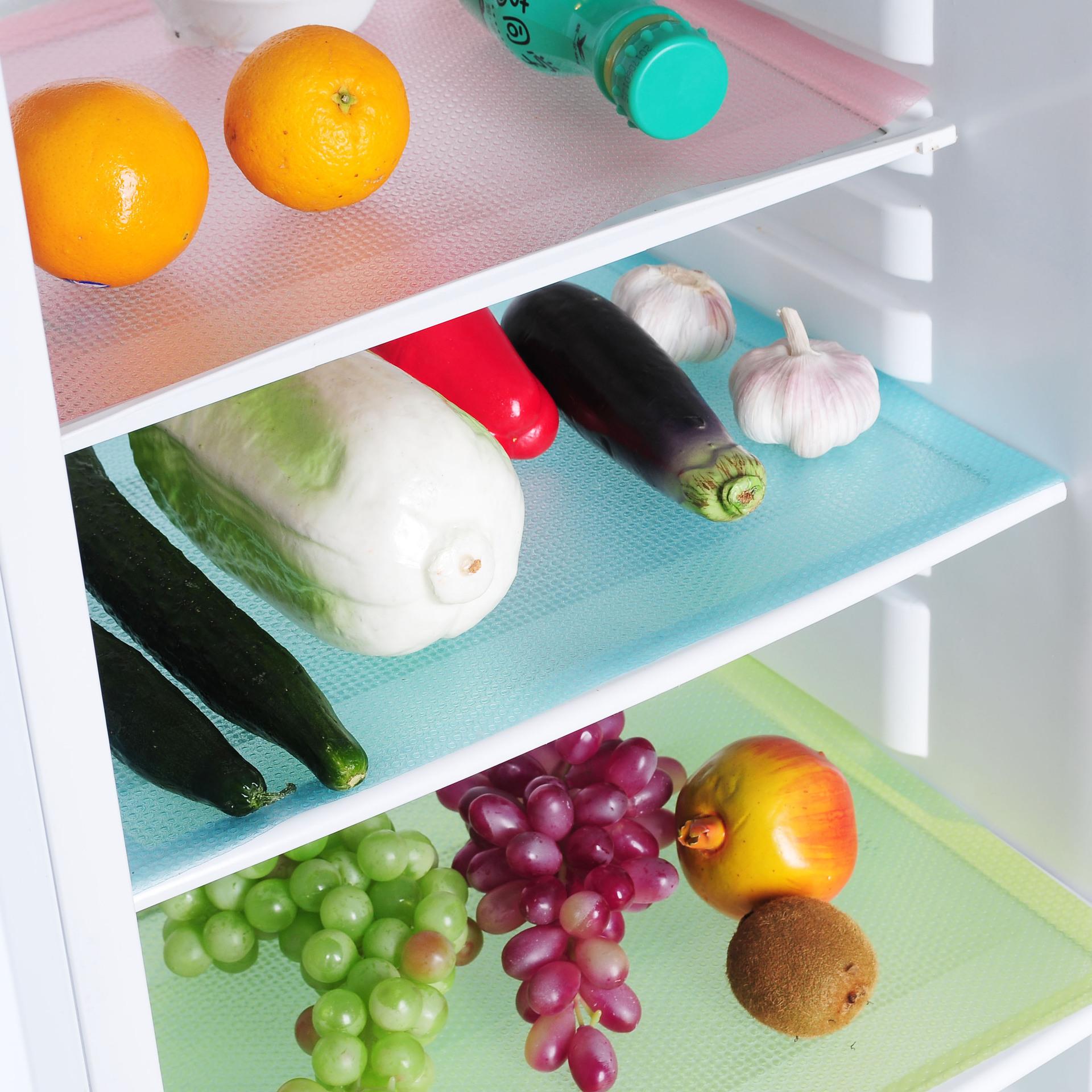 4 Pcs/set Facile à nettoyer, Imperméable à l'eau de Réfrigérateur de Tapis