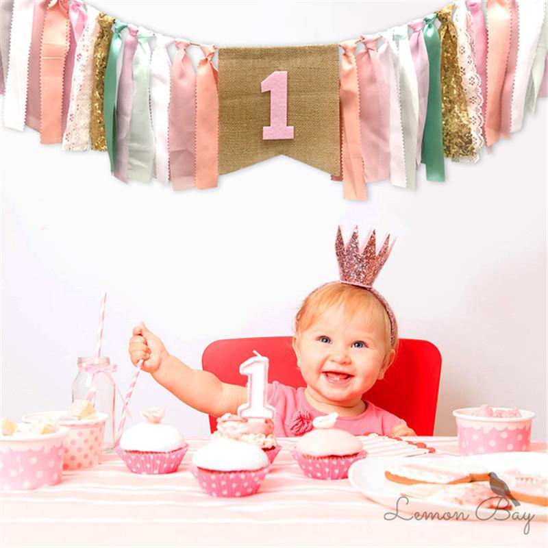 义乌市森洲进出口有限公司 / 1º aniversário cadeira decorações saia tutu uma bandeira para o bebê decoração de festa primeiro aniversário