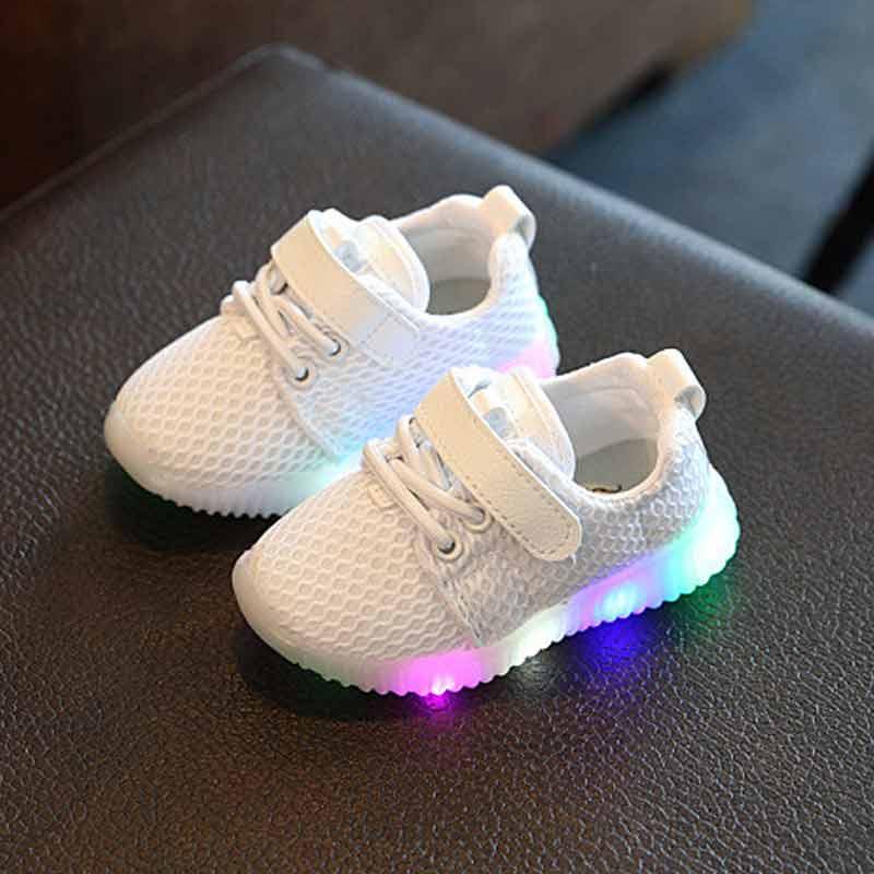 Respirant Maille de LED Baskets pour Bébé et tout-petits