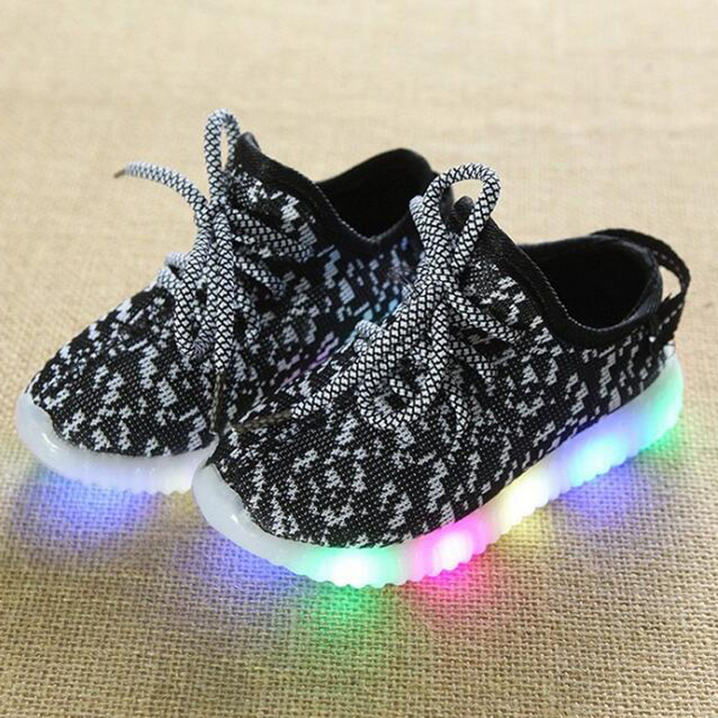 Купить со скидкой Comfy Lace-up LED Sneaker for Kids