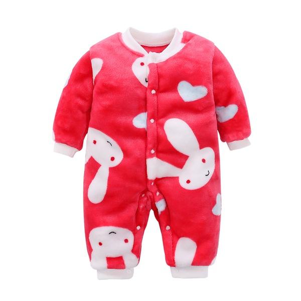 bella stampa coniglio lungo-manicotto della tuta rosso per il bambino  appena nato unisex   5303b21b90e
