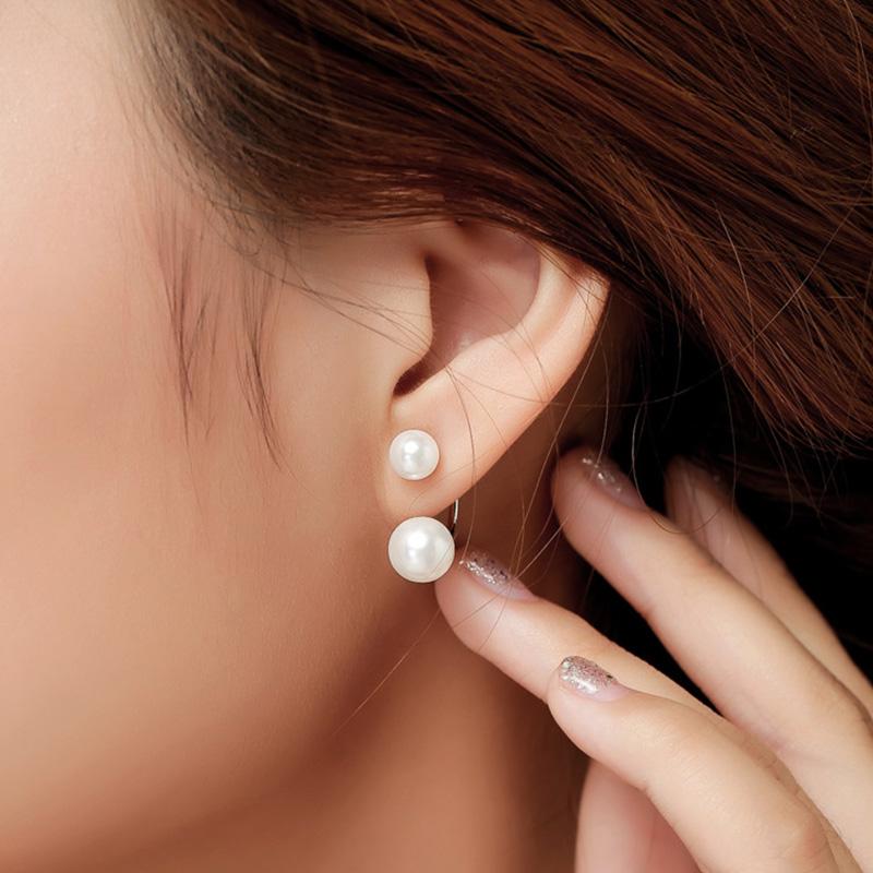 Image of 1-pair Gli orecchini di perle arredamento abbastanza per le donne
