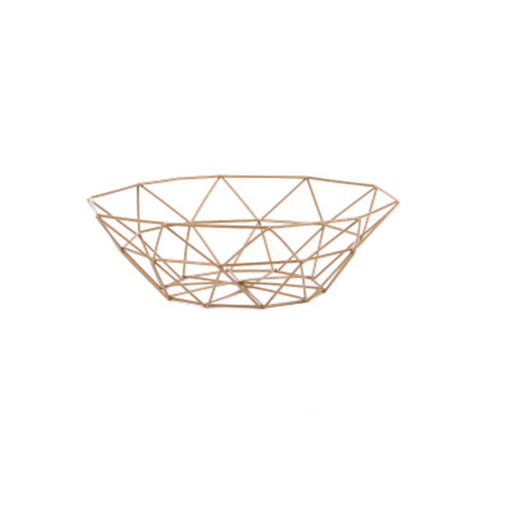 Image of 1 pc snack ferro arte creativa del desktop di frutta stoccaggio basket-s