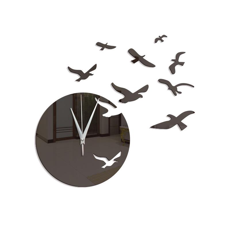Image of creativo mare mew orologio da parete specchio design