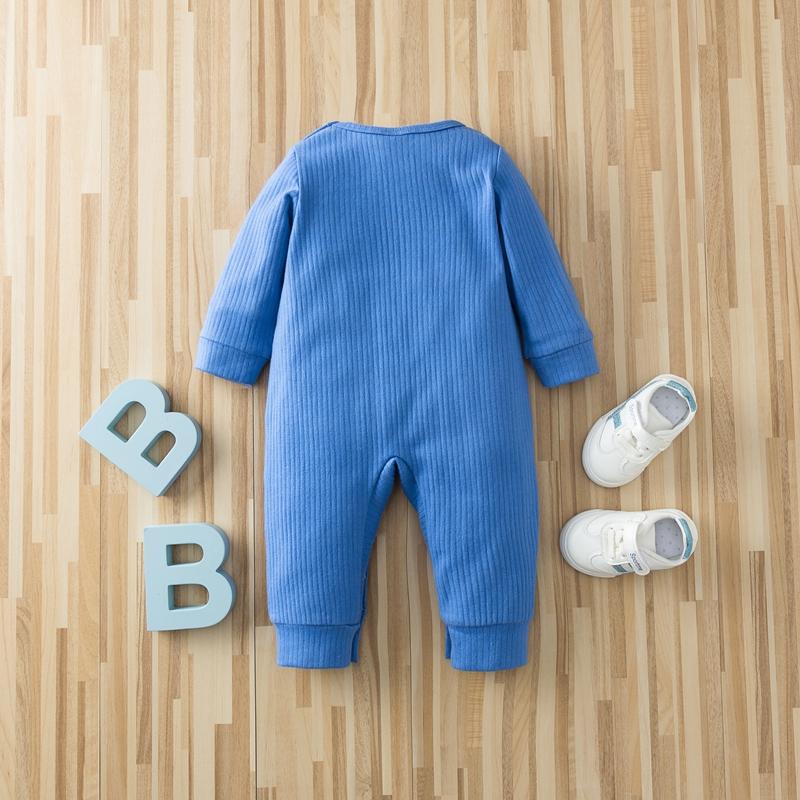 Baby Letter Colorblock Jumpsuits